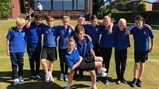 Cricket team play at county finals!