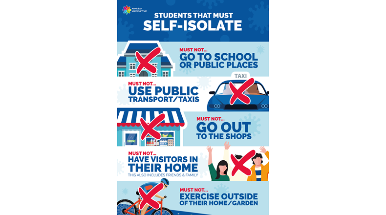Self-isolate poster